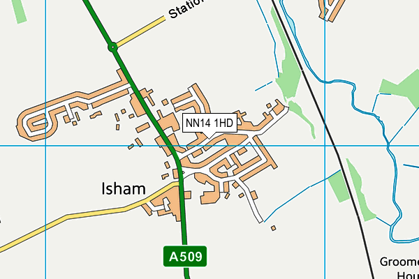 Isham Church of England Primary School map (NN14 1HD) - OS VectorMap District (Ordnance Survey)