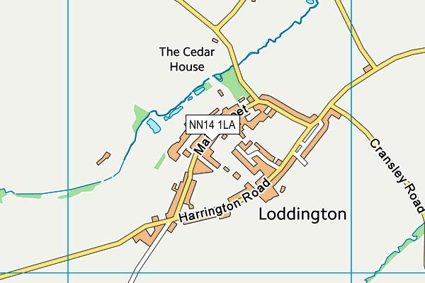 Loddington CofE (VA) Primary School map (NN14 1LA) - OS VectorMap District (Ordnance Survey)