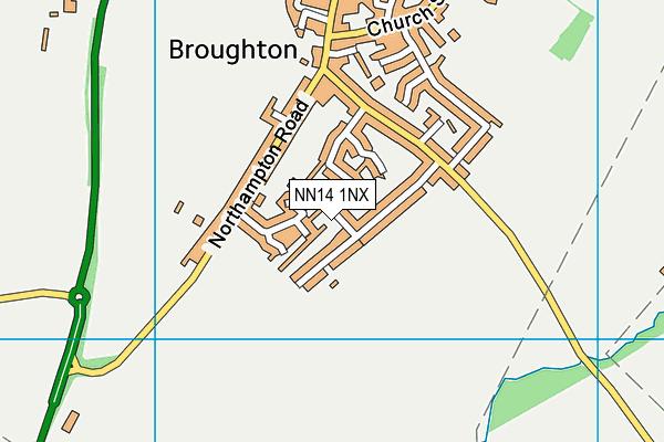 NN14 1NX map - OS VectorMap District (Ordnance Survey)