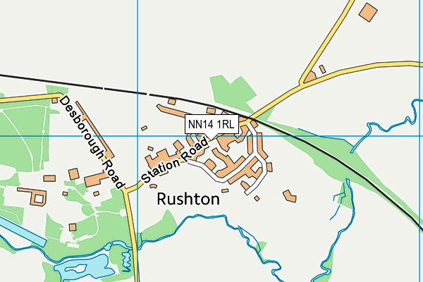 Rushton Primary School map (NN14 1RL) - OS VectorMap District (Ordnance Survey)
