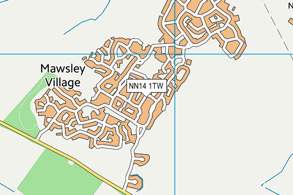 NN14 1TW map - OS VectorMap District (Ordnance Survey)