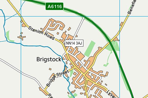 NN14 3AJ map - OS VectorMap District (Ordnance Survey)