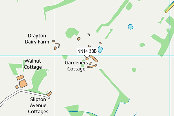 NN14 3BB map - OS VectorMap District (Ordnance Survey)