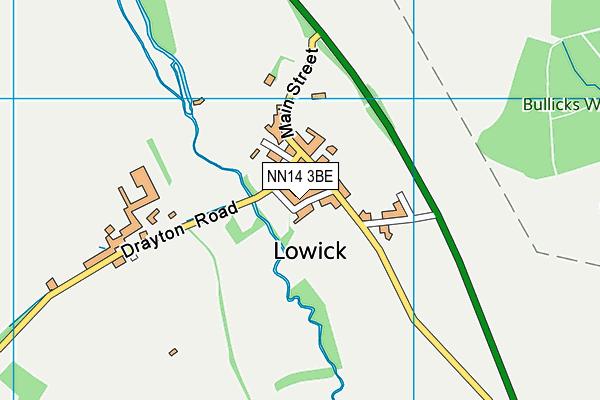 NN14 3BE map - OS VectorMap District (Ordnance Survey)