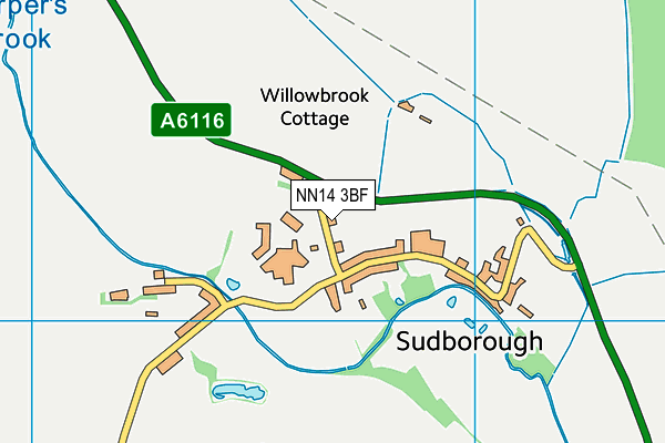 NN14 3BF map - OS VectorMap District (Ordnance Survey)
