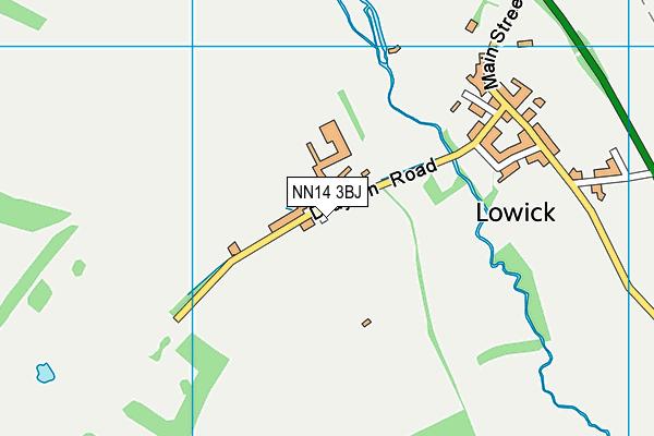 NN14 3BJ map - OS VectorMap District (Ordnance Survey)
