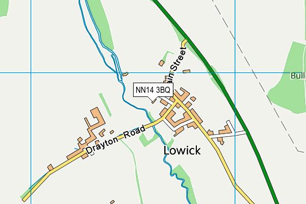 NN14 3BQ map - OS VectorMap District (Ordnance Survey)