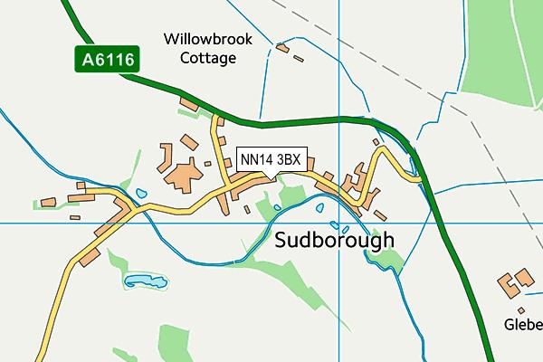 NN14 3BX map - OS VectorMap District (Ordnance Survey)