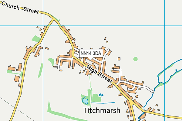 NN14 3DA map - OS VectorMap District (Ordnance Survey)