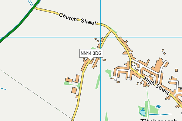 NN14 3DG map - OS VectorMap District (Ordnance Survey)