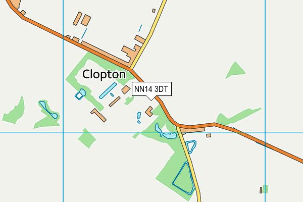 NN14 3DT map - OS VectorMap District (Ordnance Survey)