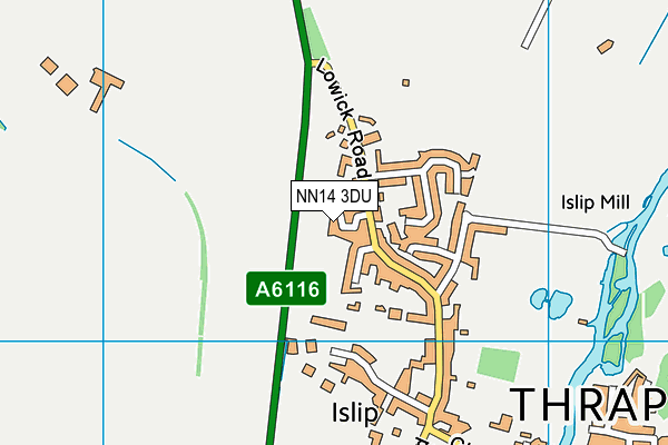 NN14 3DU map - OS VectorMap District (Ordnance Survey)