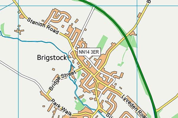 NN14 3ER map - OS VectorMap District (Ordnance Survey)