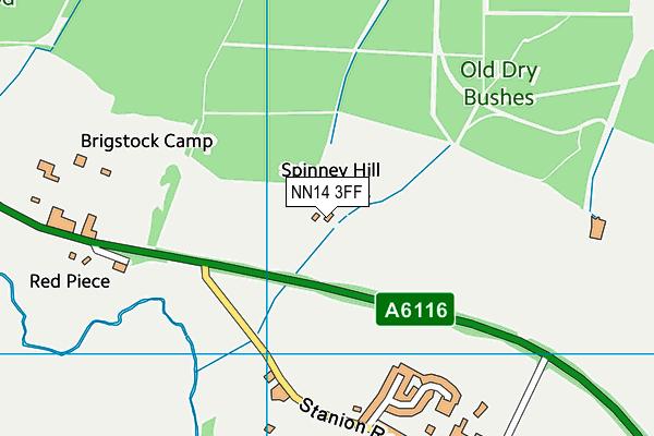 NN14 3FF map - OS VectorMap District (Ordnance Survey)