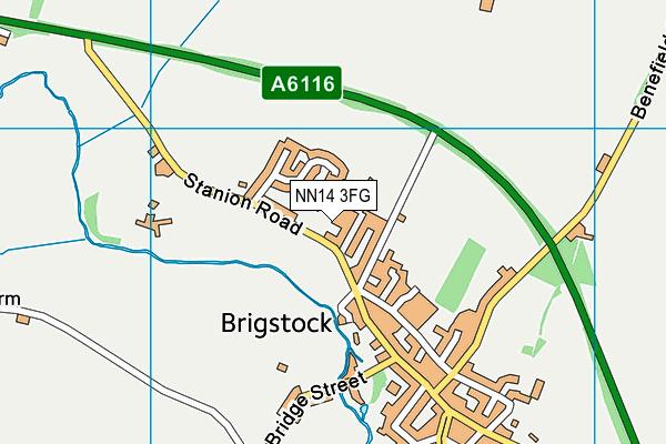 NN14 3FG map - OS VectorMap District (Ordnance Survey)