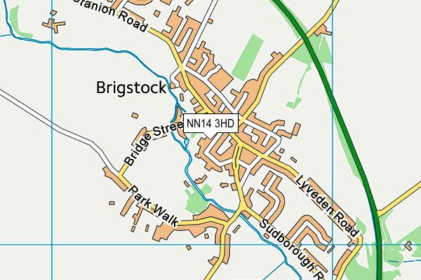 Brigstock Latham's Church of England Primary School map (NN14 3HD) - OS VectorMap District (Ordnance Survey)