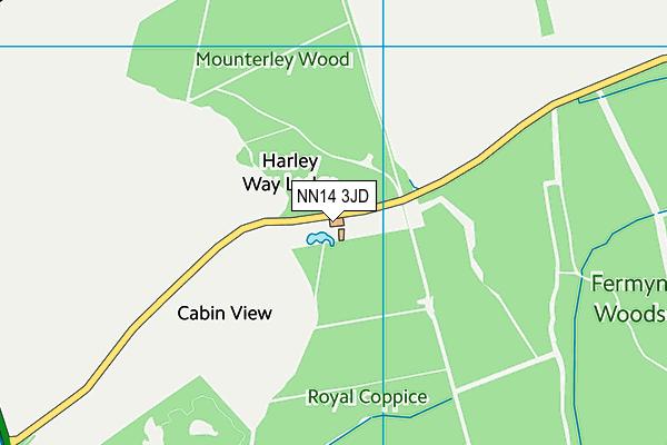 NN14 3JD map - OS VectorMap District (Ordnance Survey)