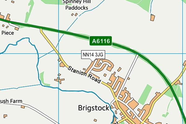 NN14 3JG map - OS VectorMap District (Ordnance Survey)