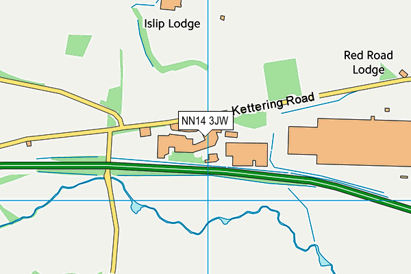 NN14 3JW map - OS VectorMap District (Ordnance Survey)