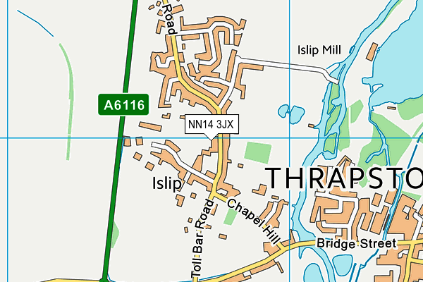 NN14 3JX map - OS VectorMap District (Ordnance Survey)