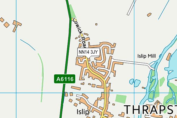 NN14 3JY map - OS VectorMap District (Ordnance Survey)