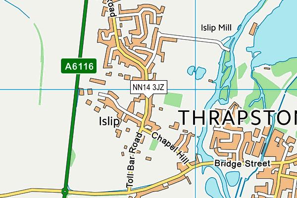 NN14 3JZ map - OS VectorMap District (Ordnance Survey)