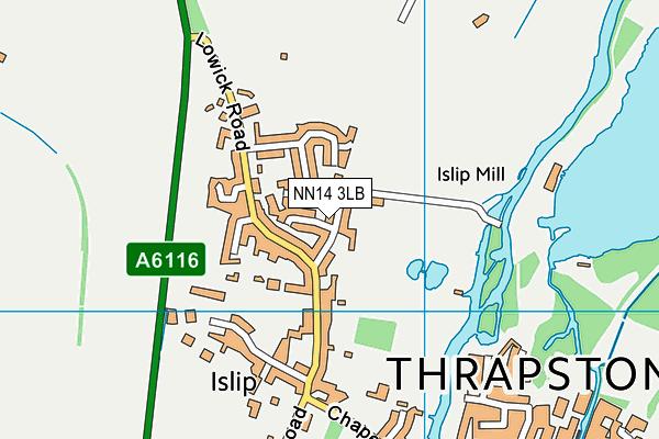 NN14 3LB map - OS VectorMap District (Ordnance Survey)