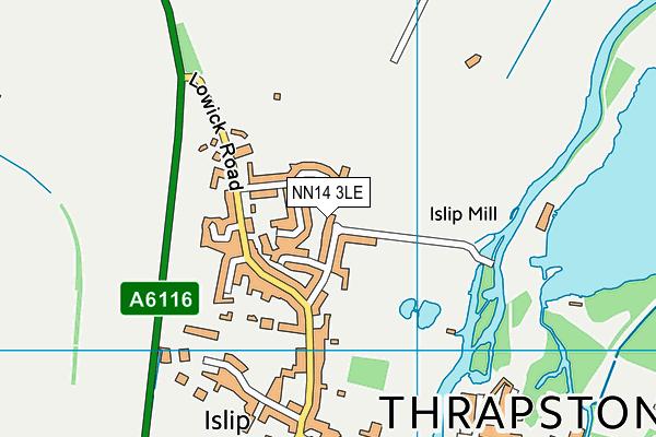 NN14 3LE map - OS VectorMap District (Ordnance Survey)