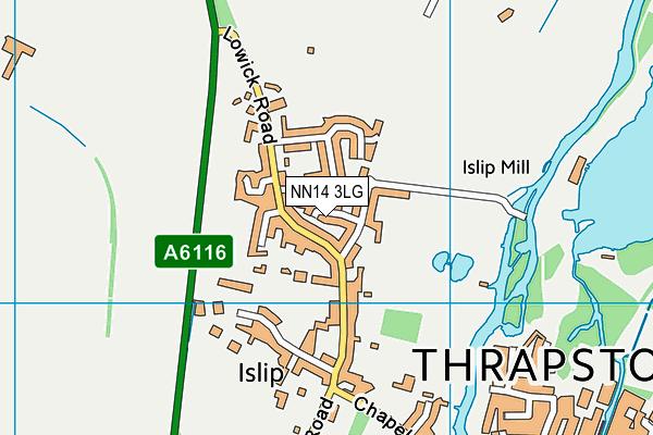 NN14 3LG map - OS VectorMap District (Ordnance Survey)