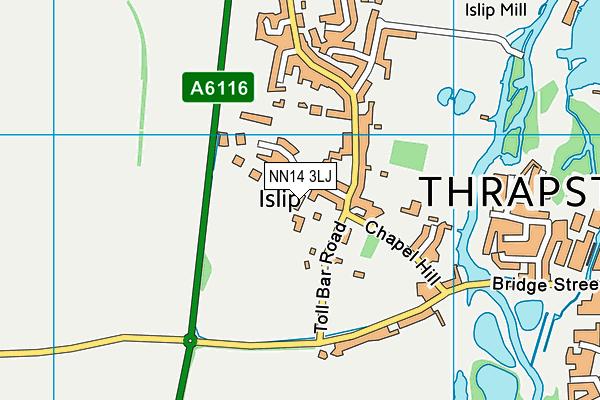 NN14 3LJ map - OS VectorMap District (Ordnance Survey)