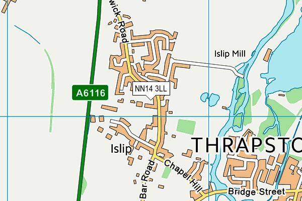 NN14 3LL map - OS VectorMap District (Ordnance Survey)