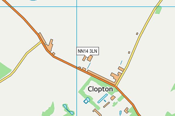 NN14 3LN map - OS VectorMap District (Ordnance Survey)