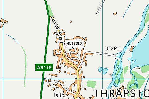 NN14 3LS map - OS VectorMap District (Ordnance Survey)