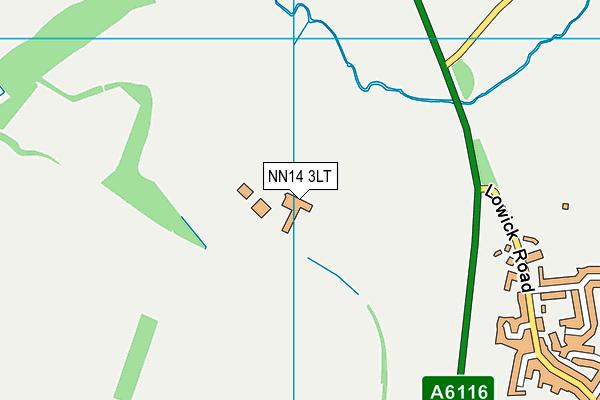 NN14 3LT map - OS VectorMap District (Ordnance Survey)