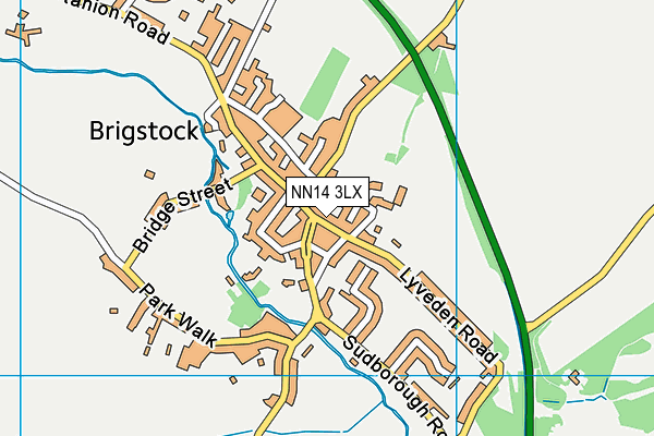 NN14 3LX map - OS VectorMap District (Ordnance Survey)