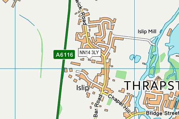 Islip Village Hall map (NN14 3LY) - OS VectorMap District (Ordnance Survey)