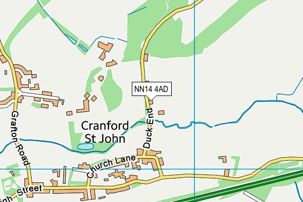 NN14 4AD map - OS VectorMap District (Ordnance Survey)