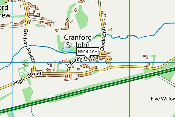 NN14 4AE map - OS VectorMap District (Ordnance Survey)