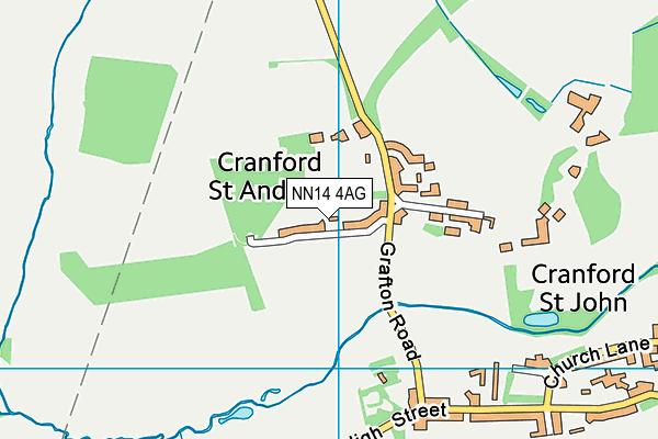 NN14 4AG map - OS VectorMap District (Ordnance Survey)