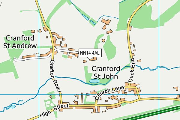 NN14 4AL map - OS VectorMap District (Ordnance Survey)