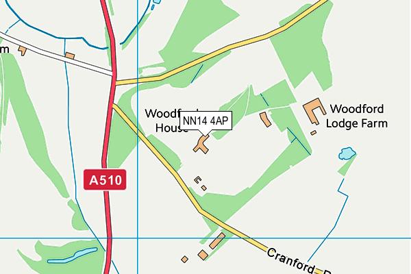 NN14 4AP map - OS VectorMap District (Ordnance Survey)