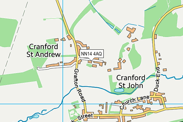 NN14 4AQ map - OS VectorMap District (Ordnance Survey)