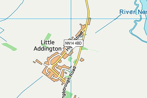 NN14 4BD map - OS VectorMap District (Ordnance Survey)