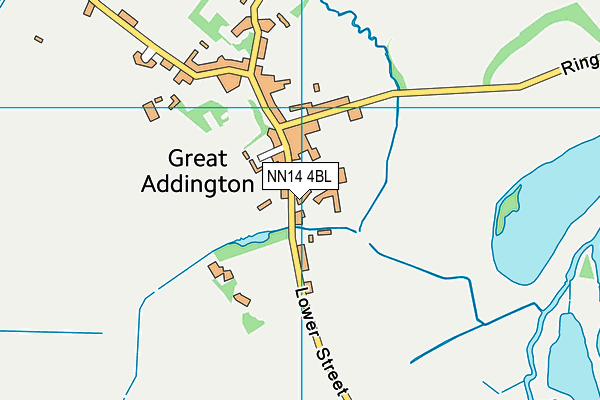 NN14 4BL map - OS VectorMap District (Ordnance Survey)
