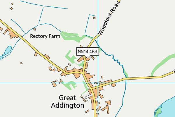 Great Addington CofE Primary School map (NN14 4BS) - OS VectorMap District (Ordnance Survey)