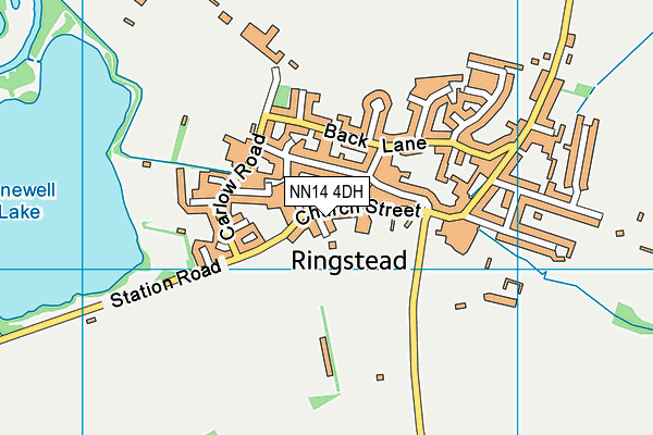Ringstead Church of England Primary School map (NN14 4DH) - OS VectorMap District (Ordnance Survey)