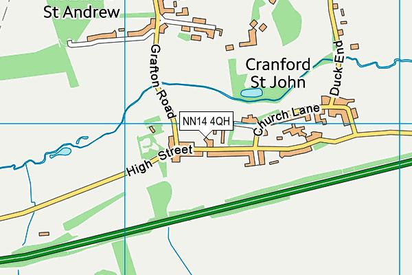 NN14 4QH map - OS VectorMap District (Ordnance Survey)