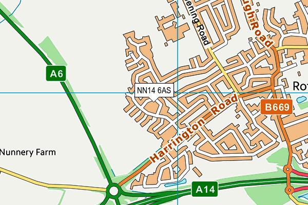 NN14 6AS map - OS VectorMap District (Ordnance Survey)