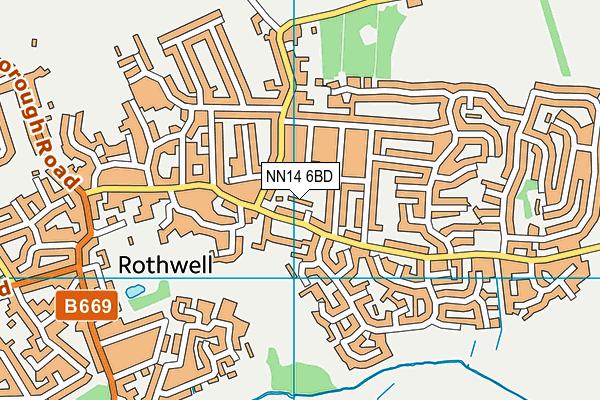NN14 6BD map - OS VectorMap District (Ordnance Survey)