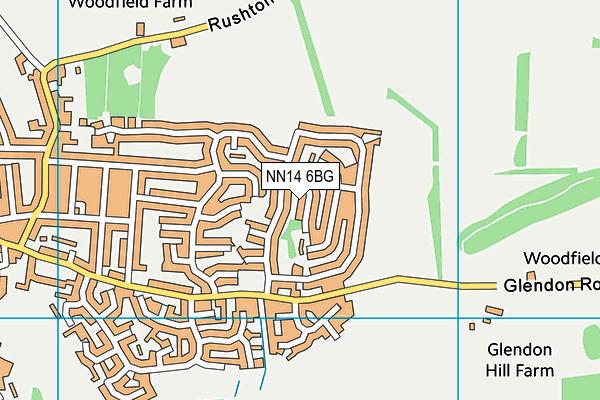 NN14 6BG map - OS VectorMap District (Ordnance Survey)
